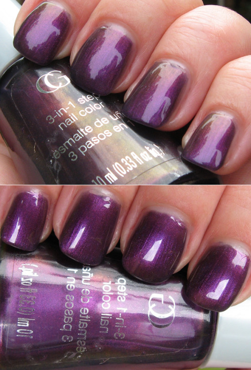 "Cover Girl ""Perplexed"", via Body & Soul. I rarely see Cover Girl nail polish at all, let alone something as promising as this purple. I was only able to find it on eBay but it's probably collecting dust at some drugstores."