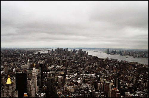 NYC from the top of the Empire State Building. 23 August 2010. [Photo by me.]