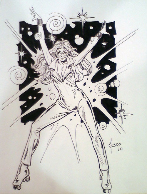 Dazzler sketch by Joe Jusko