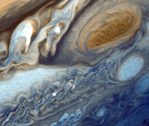 "itsfullofstars:  fuckyeaheyegasms:  Jupiter's Great Red Spot -""The Oldest Storm in the Universe?"" via dailygalaxy"