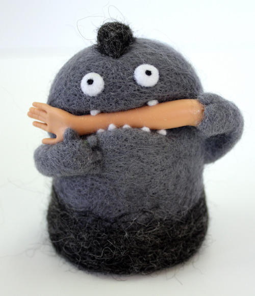 Hand felted Moxie creations. I really want one.
