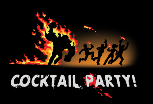 thedrunkenmoogle:  Cocktail Party (Left 4 Dead T-shirt)After the zombie apocalypse hits, it means a whole different thing to throw a cocktail party.[Available for $17.95 on SplitReason.com]
