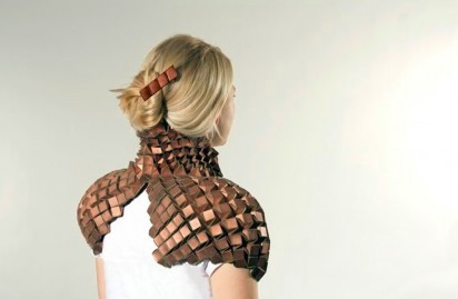 Wearable metal origami. Awesome. Although uncomfortable, I'm sure.