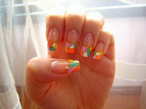 Random colourful nails.