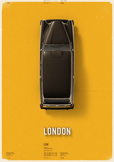 Mehment Gozetlik designed a lovely series of four posters displaying taxi cabs from different parts of the world. See the rest of the series here.