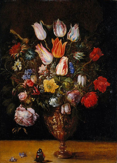 Gaspar van den Hoecke Flowers in a Vase 17th century