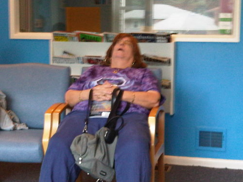 A friend took this picture as she waited at the dentist's office. So so wrong. For so so many reasons.