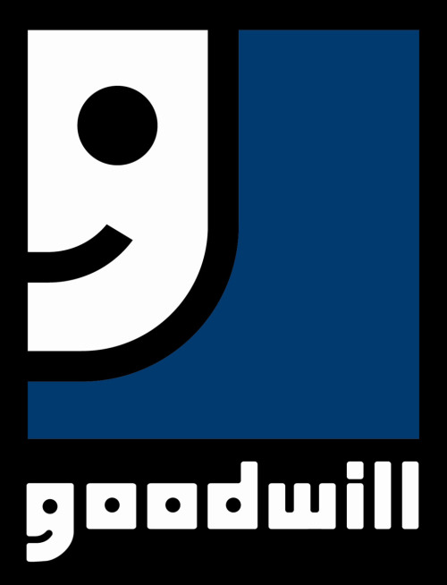 cannotunsee:  Logos: The Goodwill logo. It is half a smiley face and a lower case g. (Submitted by complicatedshoes)