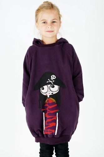 The opposite of twirly : bubble + hoodie sweatshirt. http://www.kidsofluxury.com/shop/little-marc-jacobs-3939p.html