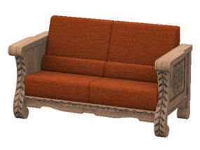 "CURRENT DAILY DEAL: El Cordero This elegant hardwood loveseat features hand-carved wooden inlays, and leather cushions. Lover, and poet Juan Cordero said it best, ""Sometimes the bedroom is too far away."""