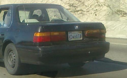 "Saw this while driving on the 110. If I wave back, does that make me a ""Hata""? LOL"