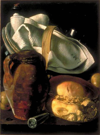 After Luis Egidio Meléndez Still Life with Bread, Jug and Napkin 1830