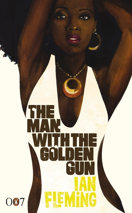 the man with the golden gun, ian fleming: penguin. [illustrated by michael gillette] The Fleming estate was insistent that there was no overt nudity, no nipples for sure. This is why they are mostly backs. I slipped a few sides and a full frontal in there too. I thought it'd make them display better. | M.G