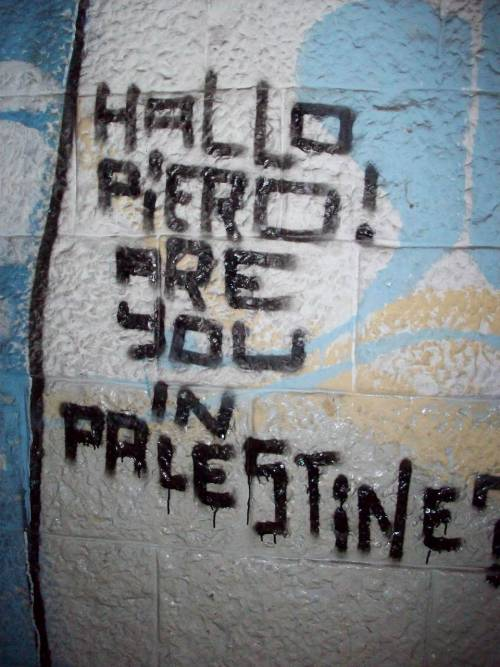 graffiti - jerusalem. on the wall of the hostel i stayed in.