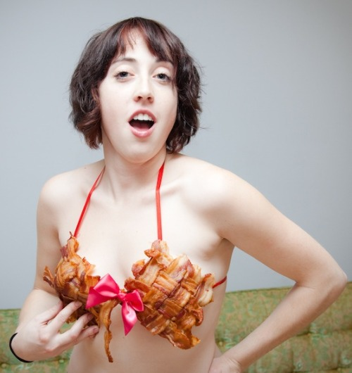 girlsheartbacon:  The Infamous Bacon Bra  We are going to need your phone number