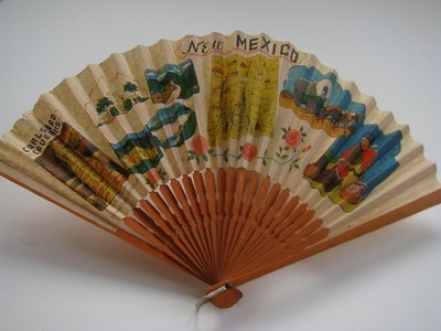 Vintage 1940's New Mexico Souvenir Fan c/o Etsy