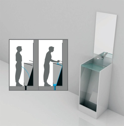gkojaz:  lovecake:  spilltmilk:  laughingsquid:  Eco Urinal, A Combination Urinal & Sink     —— very clever!