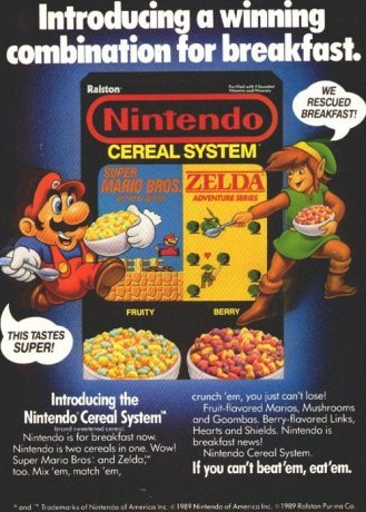 Nintendo Cereal System (Remembered by Nicole F.)