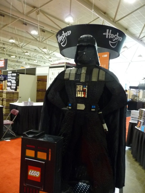 Lego Darth Vader on display at @FanExpoCanada.