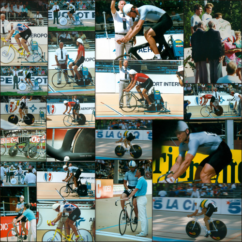 A collage of photos from the 1989 World Championships in Lyon, France.  Thanks to Tony Graham!