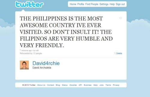 archieisheart:  Philippines is the best! be strong Filipinos! :)