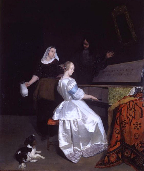 Jacob Ochtervelt The Music Lesson 1670