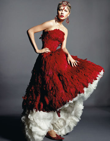This though, IS my favorite ever dress designed by Alexander McQueen. Rest in peace you amazing man!