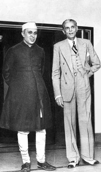 On the left is Jawaharlal Nehru, the legendary Indian leader, wearing his namesake collar.  Muhammad Ali Jinnah, on the right, was the founder of Pakistan.  They look wonderfully, elegant, don't they? (via The Naked Ape Gets Dressed)