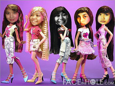 nidadini:  here are my barbies :) ANdrea,Vini,Intan,Levy,and Inggit LOL so funny