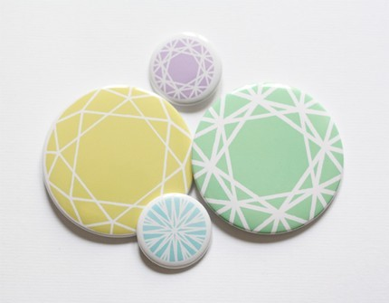 Sometimes simple is best! diamond badge set
