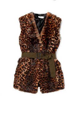 Dries Van Noten Leopard-Print Rabbit Fur Vest. The ultimate fall staple