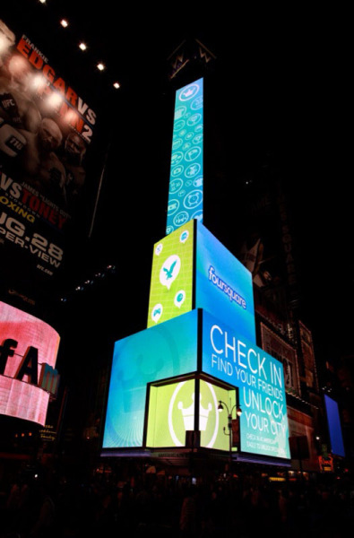 Foursquare does Times Square. Thanks, American Eagle.  P.S. They are still running specials for checking in on foursquare!