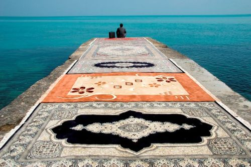 Untitled (from the Water and Persian Rugs series by Jalal Sepehr, 2004)