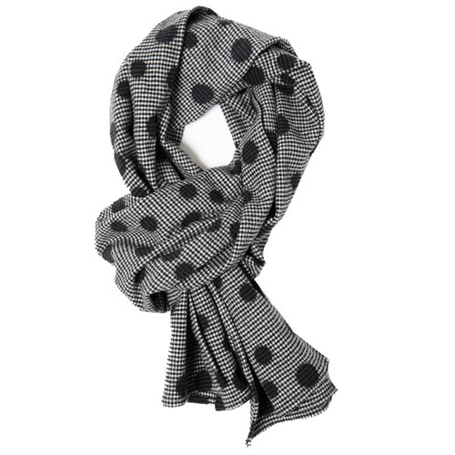 Hope Houndstooth Dot Scarf
