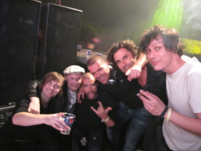 Gary Beck, Cari lekebush,Chris Liebing, Speedy J,myself and Luke Slater during Mystery Land @ the Electric De Luxe stage….12 hours of non stop pure techno.