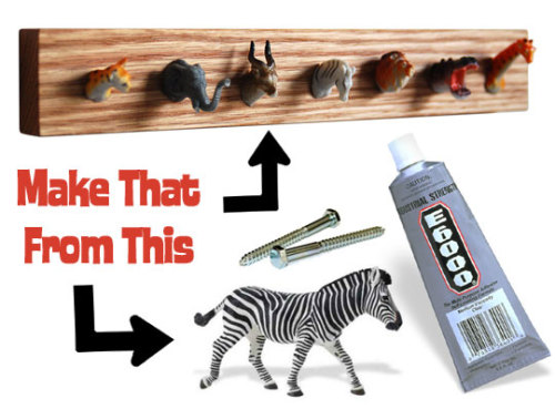 DIY An Amazing Animal Coat Rack | Apartment Therapy Ohdeedoh
