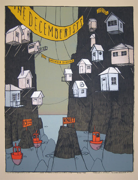 via fygigposters:  'The Decemberists' by Jay Ryan