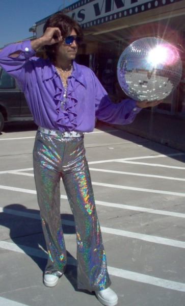 I am writing a skit about disco pants. Perhaps this picture will inspire me