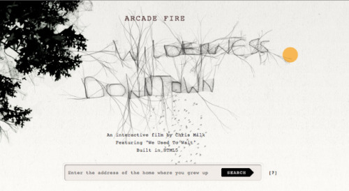 Arcade Fire's Experimental New Video Shows What's Possible with HTML5 The best iteration of HTML5 to date, leveraging Google maps and your childhood memories