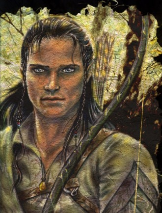 This is how Legolas really looks onceuponahobbit:  There was also a strange Elf clad in green and brown, Legolas, a messenger from his father, Thranduil, the King of the Elves of Northern Mirkwood (J.R.R.Tolkien - Council of Elrond)