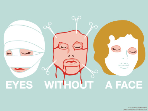 Illustration for the film Eyes Without a Face from Criterion Affection.  Click the image to peruse this wonderful site!