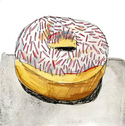 The best kind of dessert - pretty and calorie free! donut (by Elizabeth Graeber)