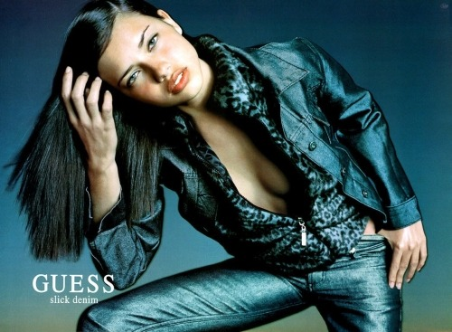 Beautiful Adriana Lima modeling jeans