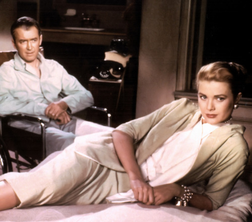 (via fuckyeahhitchcock) Jimmy Stewart and Grace Kelly Rear Window - (1954)
