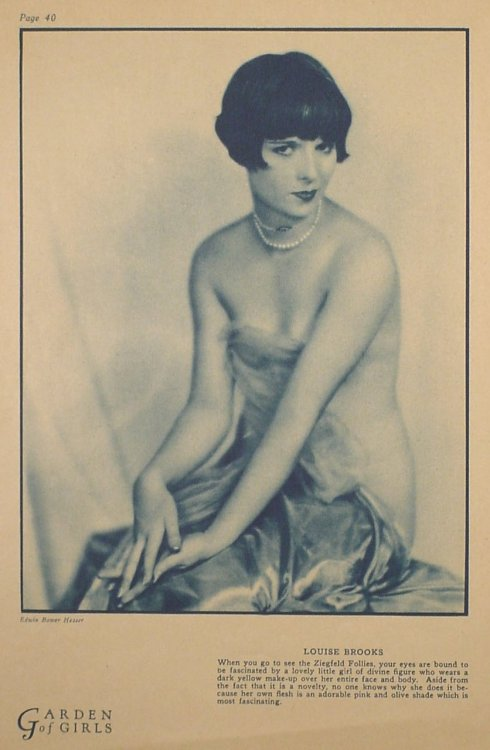 Louise Brooks by Edwin Bower Hesser * in Garden of Girls,November 1925