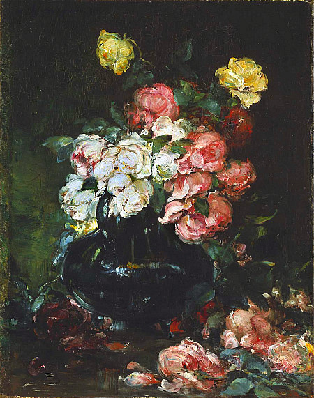 Walter Shirlaw Roses Before 1888