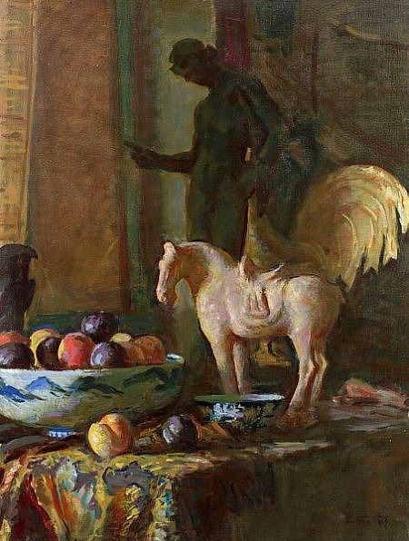 Harry Sutton Jr. Still Life with Statues II 1969