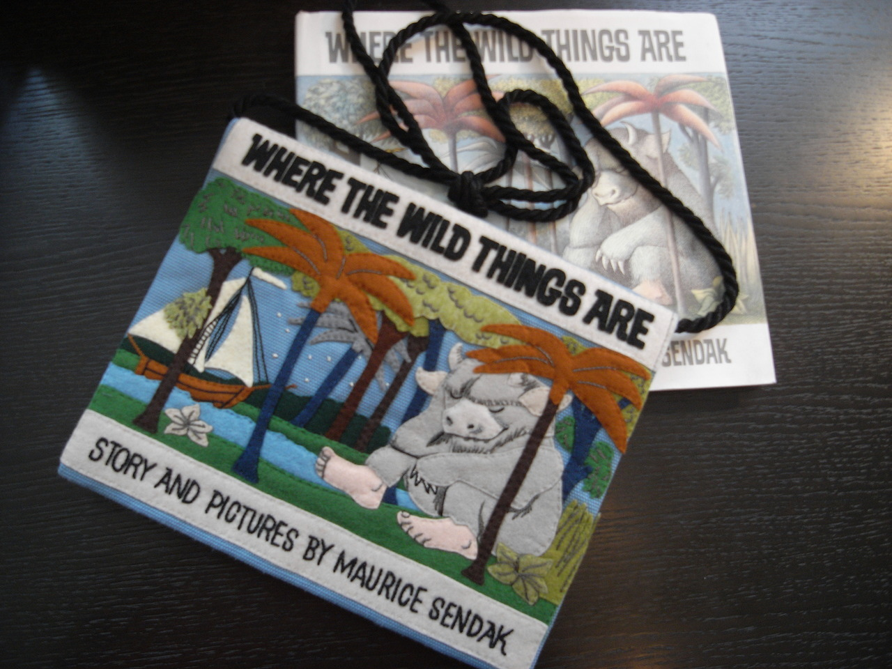 "olympialetan:  Olympia Le-Tan ""Where The Wild Things Are"" pochette, made especially for my friend Val."