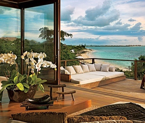 Donna Karan's beach house in the Turks and Caicos Islands