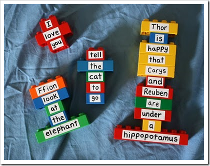 Repurposing Duplo Bricks for Storytelling, Spelling and Reading
